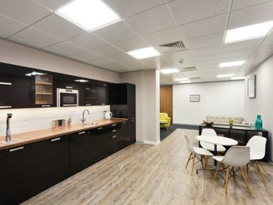 Executive offices London Break Out Area and kitchen