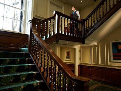 Serviced offices London staircase