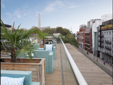 Office rental in London Roof Terrace